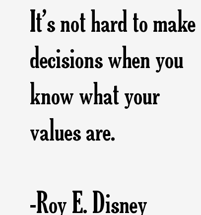 values decision 1